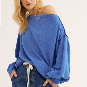 Free People Main Squeeze Hacci Knit Top